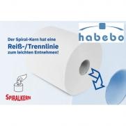 Handtuchrolle weiss 2-lagig für Innen- & Außenabwicklung