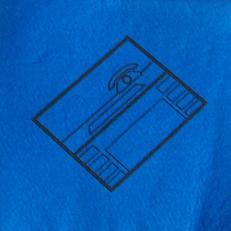 """Feuchtwischtuch blau mit Piktogramm """"Büro""""; 10 Stk. im Pack"""