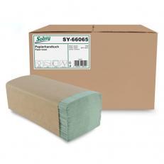 Papier-Falthandtuch recycling GRÜN, 25 x 20 cm, ZZ/V-Falz, 1-lagig