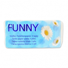 Toilettenpapier hochweiss 3-lagig, 250 Blatt/ Rolle, motivgeprägt
