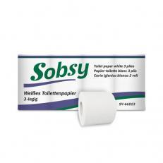 Toilettenpapier hochweiss 3-lagig, 150 Blatt/ Rolle