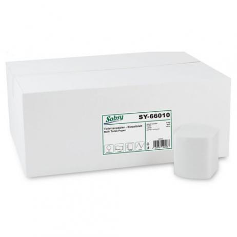 Einzelblatt-Toilettenpapier, 2-lagig, recycl. weiß