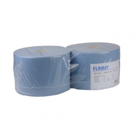 Putztuchrolle blau 22 cm, 2-lagig