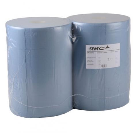 Putztuchrolle blau 37 cm, 2-lagig