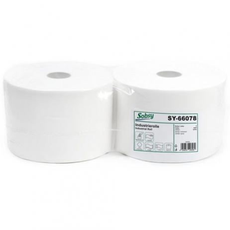 Putztuchrolle recycling weiß 22 cm, 2-lagig
