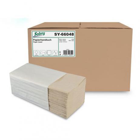Papier-Falthandtuch recycling, 25 x 20 cm, ZZ/V-Falz, 1-lagig